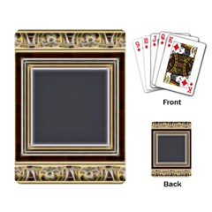 Fractal Classic Baroque Frame Playing Card