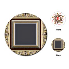 Fractal Classic Baroque Frame Playing Cards (round)