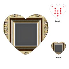 Fractal Classic Baroque Frame Playing Cards (Heart)
