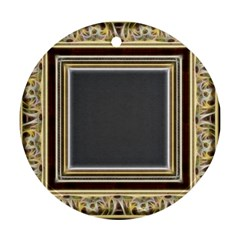 Fractal Classic Baroque Frame Round Ornament (two Sides)