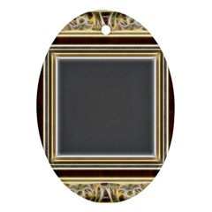 Fractal Classic Baroque Frame Oval Ornament (two Sides)