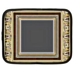 Fractal Classic Baroque Frame Netbook Case (large)