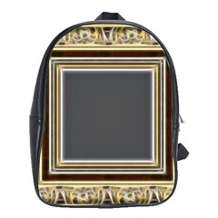 Fractal Classic Baroque Frame School Bags(large)