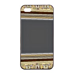 Fractal Classic Baroque Frame Apple iPhone 4/4s Seamless Case (Black)