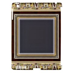 Fractal Classic Baroque Frame Apple iPad 3/4 Hardshell Case (Compatible with Smart Cover)