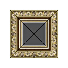Fractal Classic Baroque Frame Acrylic Tangram Puzzle (4  x 4 )