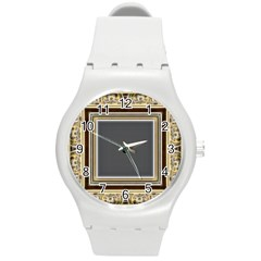 Fractal Classic Baroque Frame Round Plastic Sport Watch (M)