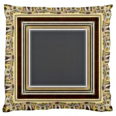 Fractal Classic Baroque Frame Large Cushion Case (One Side)