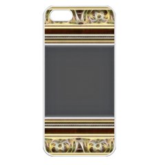 Fractal Classic Baroque Frame Apple iPhone 5 Seamless Case (White)