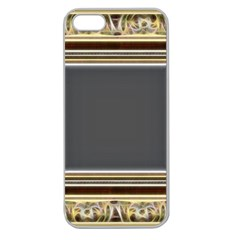 Fractal Classic Baroque Frame Apple Seamless iPhone 5 Case (Clear)
