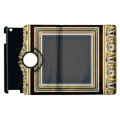Fractal Classic Baroque Frame Apple iPad 2 Flip 360 Case