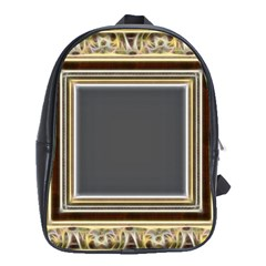 Fractal Classic Baroque Frame School Bags (XL)
