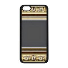 Fractal Classic Baroque Frame Apple iPhone 5C Seamless Case (Black)