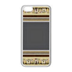 Fractal Classic Baroque Frame Apple iPhone 5C Seamless Case (White)