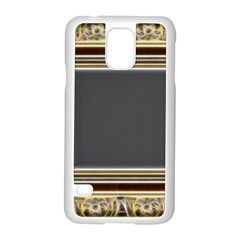Fractal Classic Baroque Frame Samsung Galaxy S5 Case (white)
