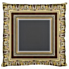 Fractal Classic Baroque Frame Large Flano Cushion Case (One Side)