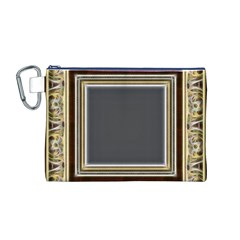 Fractal Classic Baroque Frame Canvas Cosmetic Bag (M)