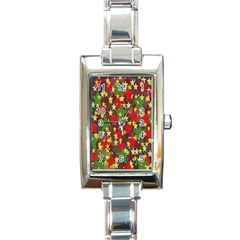 Star Abstract Multicoloured Stars Background Pattern Rectangle Italian Charm Watch