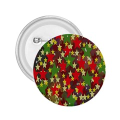 Star Abstract Multicoloured Stars Background Pattern 2.25  Buttons