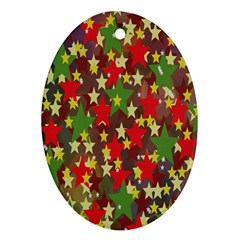 Star Abstract Multicoloured Stars Background Pattern Ornament (Oval)