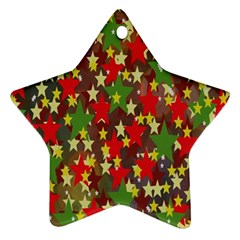 Star Abstract Multicoloured Stars Background Pattern Ornament (Star)