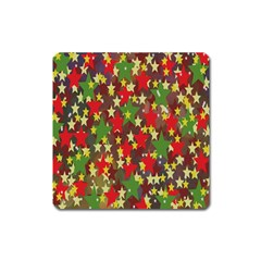 Star Abstract Multicoloured Stars Background Pattern Square Magnet