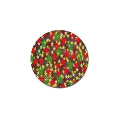 Star Abstract Multicoloured Stars Background Pattern Golf Ball Marker (10 pack)