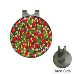 Star Abstract Multicoloured Stars Background Pattern Hat Clips With Golf Markers