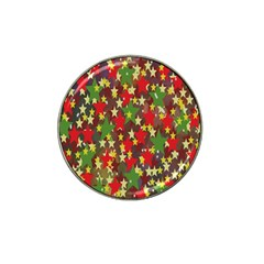 Star Abstract Multicoloured Stars Background Pattern Hat Clip Ball Marker (4 Pack)