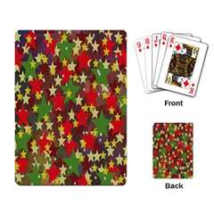 Star Abstract Multicoloured Stars Background Pattern Playing Card