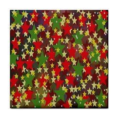 Star Abstract Multicoloured Stars Background Pattern Face Towel