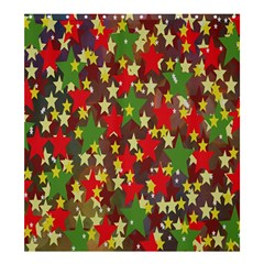 Star Abstract Multicoloured Stars Background Pattern Shower Curtain 66  X 72  (large)