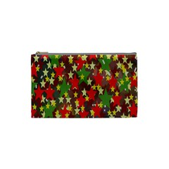Star Abstract Multicoloured Stars Background Pattern Cosmetic Bag (small)