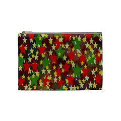 Star Abstract Multicoloured Stars Background Pattern Cosmetic Bag (medium)