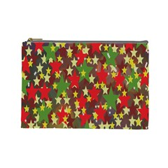 Star Abstract Multicoloured Stars Background Pattern Cosmetic Bag (large)
