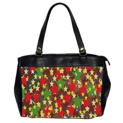 Star Abstract Multicoloured Stars Background Pattern Office Handbags (2 Sides)
