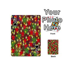 Star Abstract Multicoloured Stars Background Pattern Playing Cards 54 (mini)