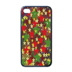 Star Abstract Multicoloured Stars Background Pattern Apple Iphone 4 Case (black)