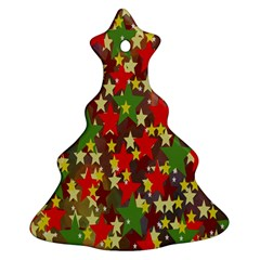 Star Abstract Multicoloured Stars Background Pattern Ornament (christmas Tree)