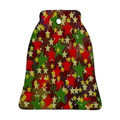 Star Abstract Multicoloured Stars Background Pattern Ornament (bell)