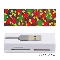 Star Abstract Multicoloured Stars Background Pattern Memory Card Reader (stick)