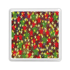 Star Abstract Multicoloured Stars Background Pattern Memory Card Reader (square)