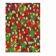 Star Abstract Multicoloured Stars Background Pattern Large Garden Flag (Two Sides)