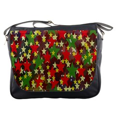 Star Abstract Multicoloured Stars Background Pattern Messenger Bags