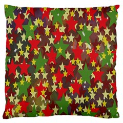 Star Abstract Multicoloured Stars Background Pattern Large Cushion Case (One Side)