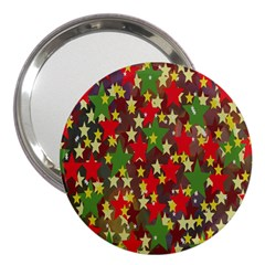 Star Abstract Multicoloured Stars Background Pattern 3  Handbag Mirrors