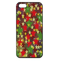 Star Abstract Multicoloured Stars Background Pattern Apple iPhone 5 Seamless Case (Black)