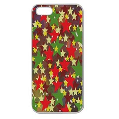Star Abstract Multicoloured Stars Background Pattern Apple Seamless Iphone 5 Case (clear)
