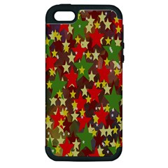 Star Abstract Multicoloured Stars Background Pattern Apple iPhone 5 Hardshell Case (PC+Silicone)