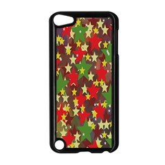 Star Abstract Multicoloured Stars Background Pattern Apple iPod Touch 5 Case (Black)